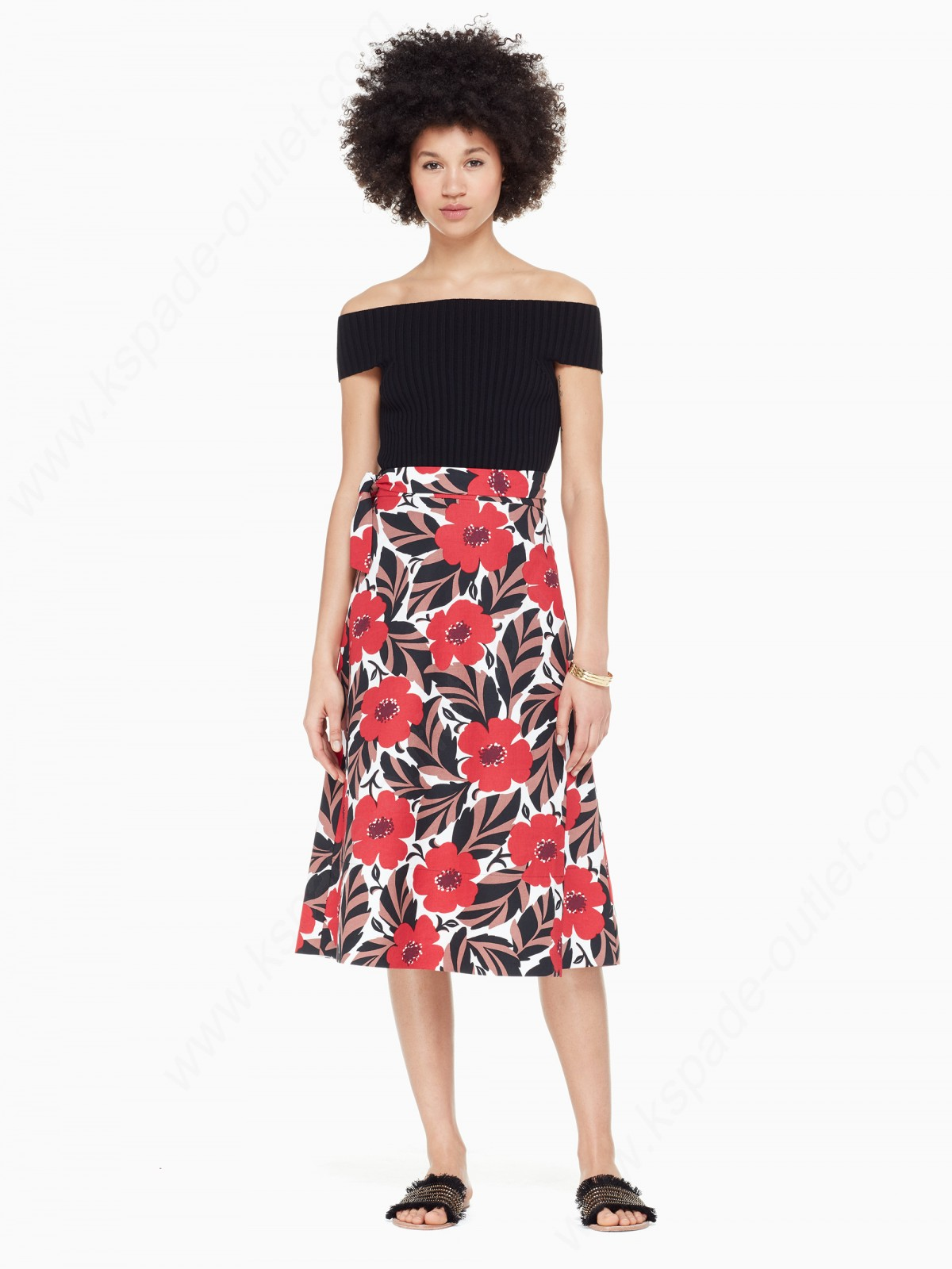 Kate Spade Lady Clothing Poppy Field Wrap Skirt - -1