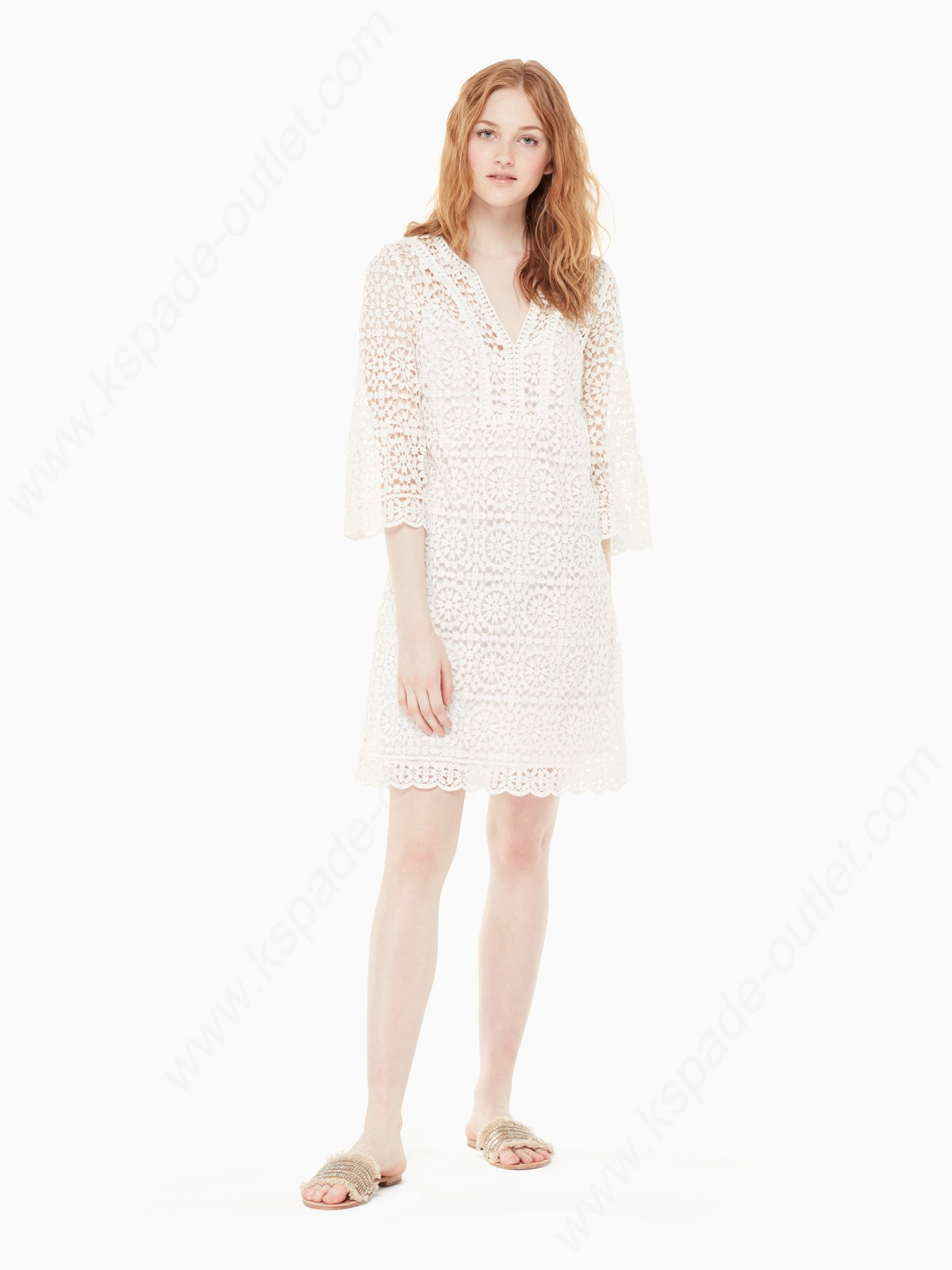 Kate Spade Womens Clothing Crochet Lace Dress - -0