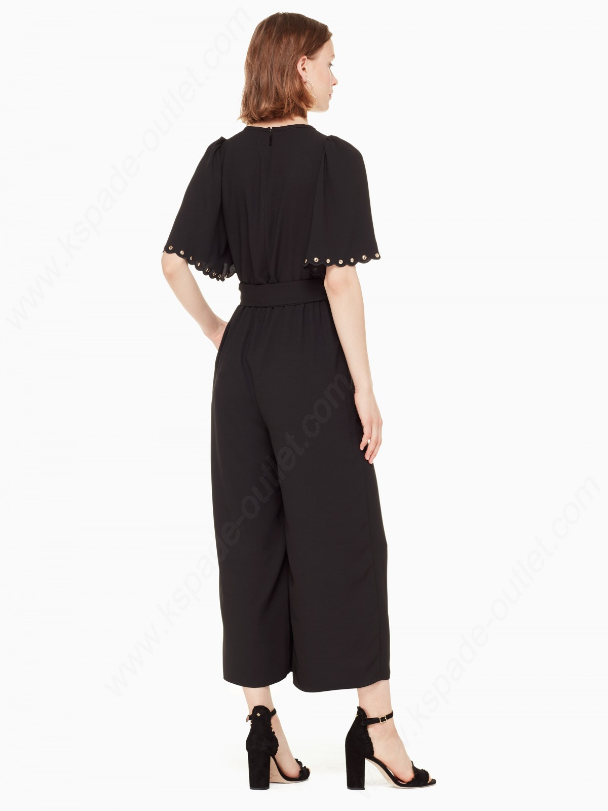 Kate Spade Womens Clothing Flutter Sleeve Jumpsuit - -2