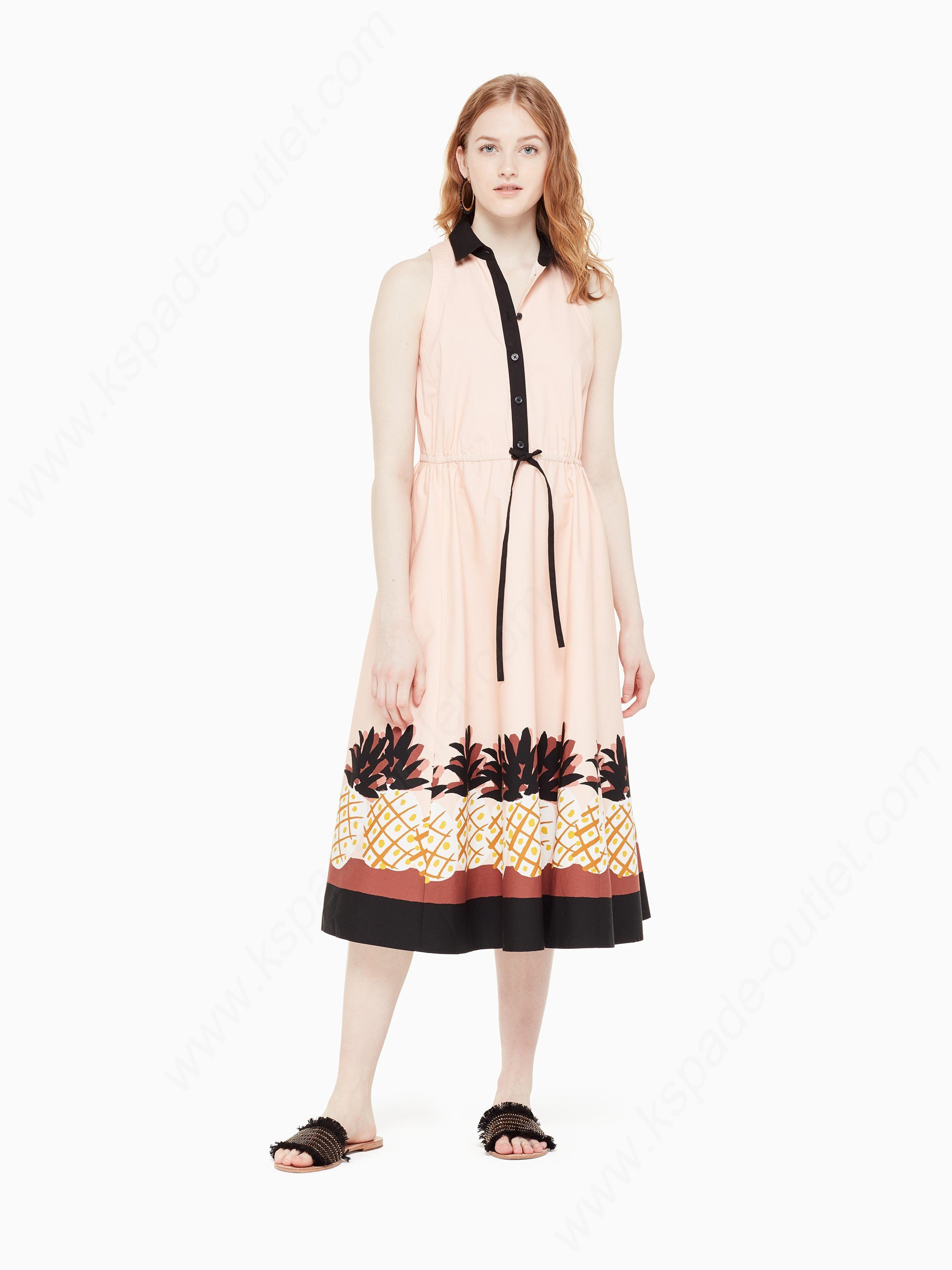 Kate Spade Lady Clothing Pineapple Patch Shirtdress - Kate Spade Lady Clothing Pineapple Patch Shirtdress