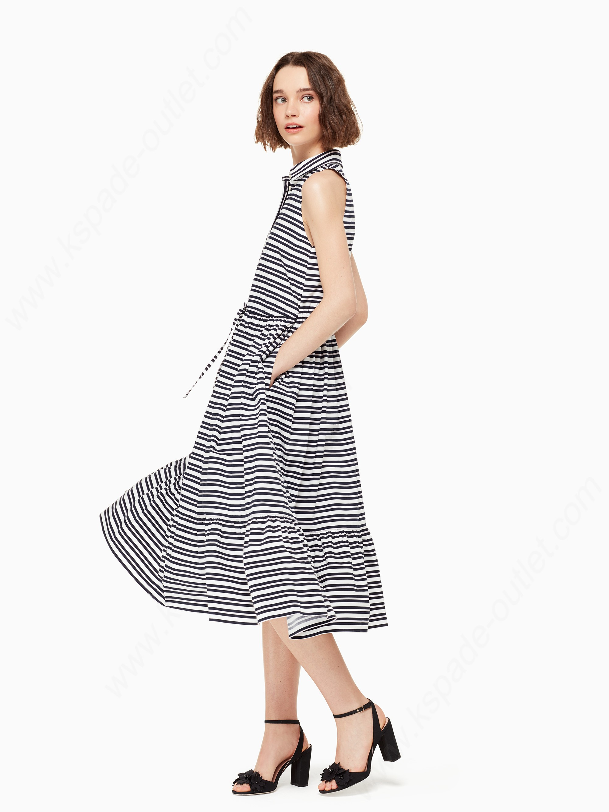 Kate Spade Womens Clothing Candy Stripe Shirtdress - Kate Spade Womens Clothing Candy Stripe Shirtdress
