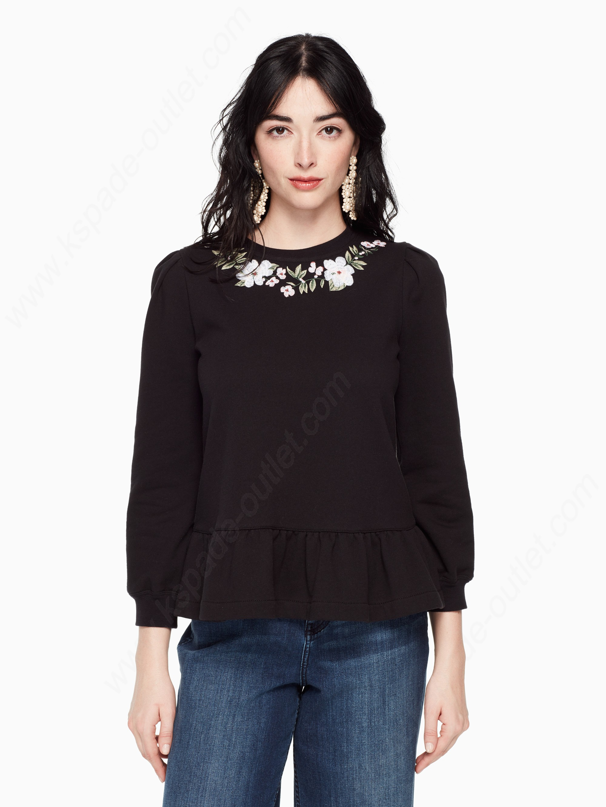 Kate Spade Womens Clothing Embroidered Pullover - Kate Spade Womens Clothing Embroidered Pullover